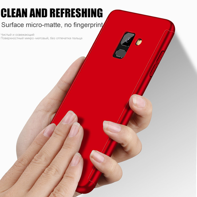 360 Full Protection Phone Case For Samsung Galaxy A5 A7 2017 Case Shockproof Cover For Samsung A7 A6 A8 J4 J6 J8 Plus 2018 Case