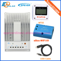 USB cable PC connect communication MT50 Meter and solar controller 20A Tracer2215BN wifi box Phone APP Solar controller 12V/24V