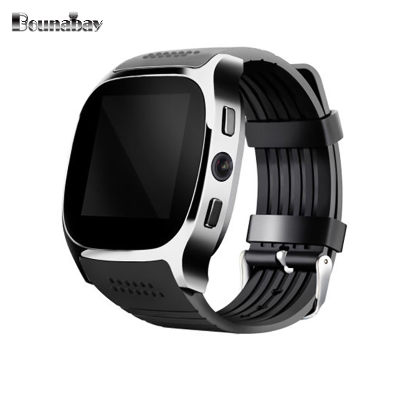 BOUNABAY Bluetooth touch watch for man sports smart watches Android ios apple phone men Clocks mens Analog 3G wifi 32M clock