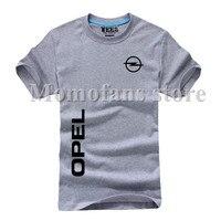 Summer New Cotton O Neck Short Sleeve OPEL Logo T Shirt Fashion T Shirt