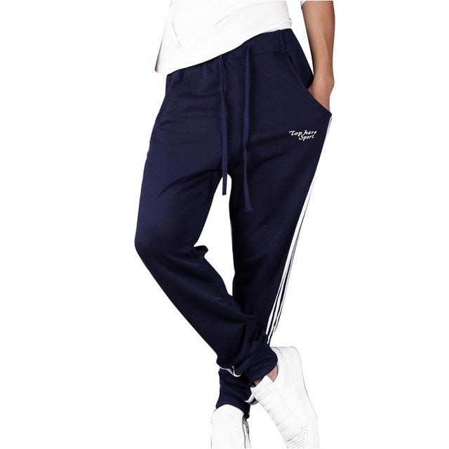 Marca de Ropa 2017 Otoño Invierno Para Hombre Pantalones Pantalones Haren Pantalones de Chándal de Algodón para Hombres de Moda de Rayas Casual Joggers Gymshark