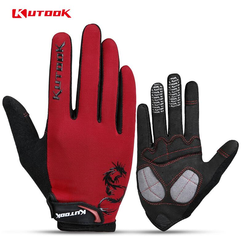 KUTOOK Cycling Bike Gloves Fishing Wear Equipment Hunting Outdoor Sports Fitness Cycling Thermal Gloves Full Finger Gloves