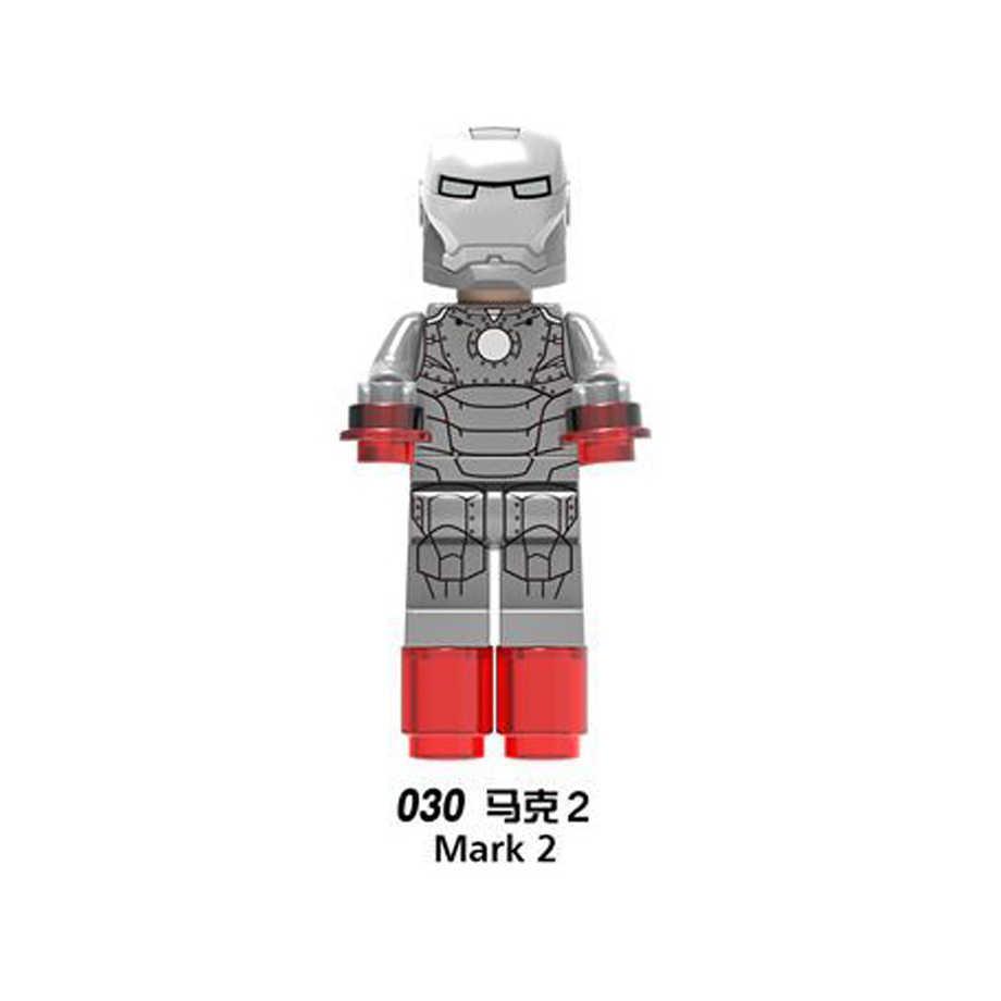 X027-X034 AvengersING LegoINGl Homem de ferro Marvel hero compatível conjunto Completo marcar Todas As séries criança Blocos de Construção de brinquedo Coleção