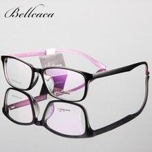 Bellcaca Spectacle Frame Eyeglasses Men Women Computer Optical Glasses Myopia TR90 For Male Transparent Clear Lens BC093