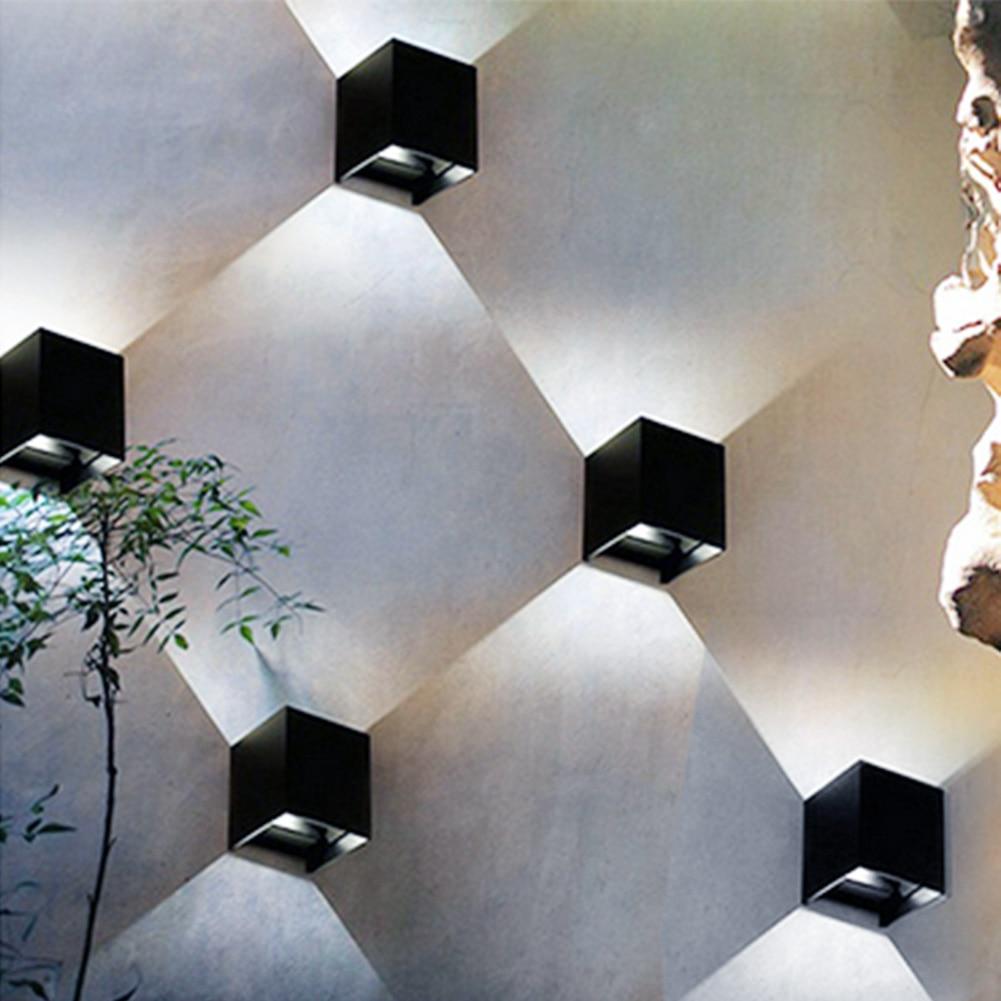 Applique Extérieure Eclairage Haut Et Bas €21.06 12% de réduction|12 w 2 pc cob puce led moderne applique murale haut  et bas intérieur et extérieur décoration murale 85 265 v ac 50/60 hz