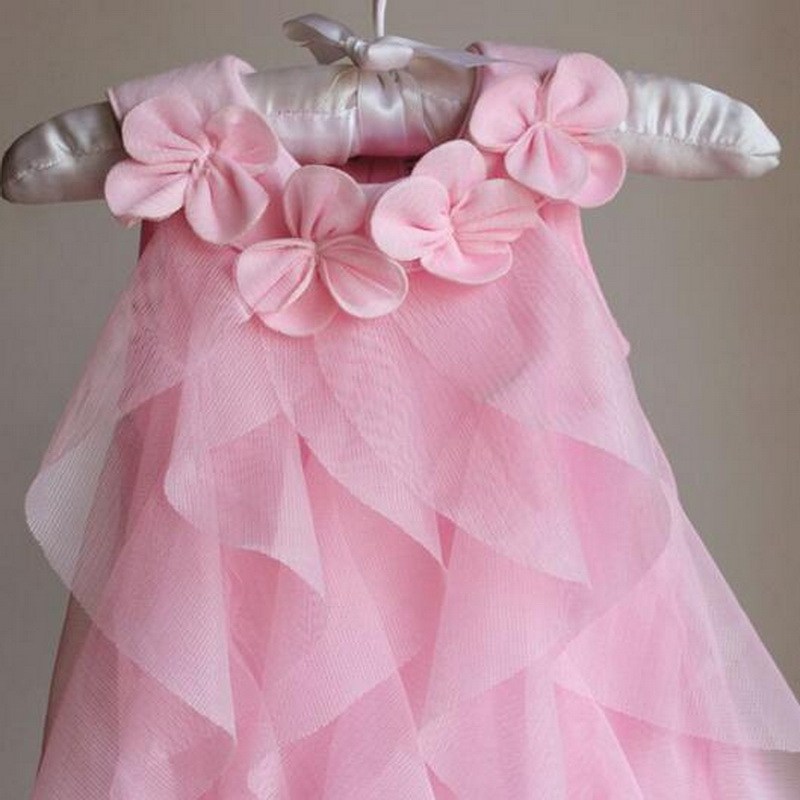 Tonlinker Girls Princess dresses Summer chiffon flower Costume Infant 1 Year Birthday Dress Baby Girl Halloween Fancy dress