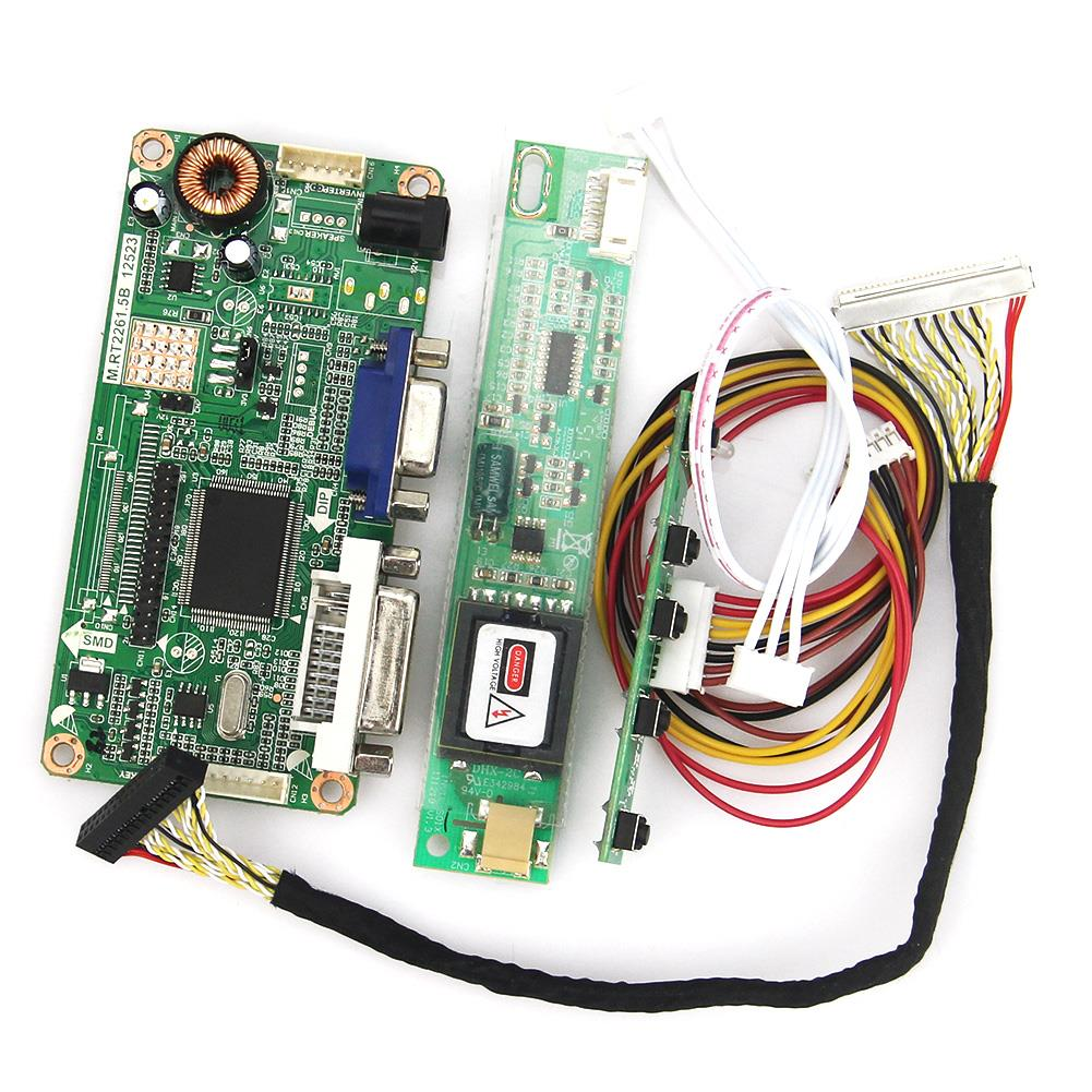 For LTM185AT01 VGA+DVI M.RT2261 LCD/LED Controller Driver Board LVDS Monitor Reuse Laptop 1366x768 lcd led controller driver board for b156xw02 ltn156at02 t vst59 03 tv hdmi vga cvbs usb lvds reuse laptop 1366x768