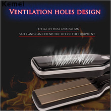 Best price LCD Display Ceramic Fast Heating Hair Straightener Hair Flat Iron 55mm Wide Plate Temperature Control Styling Tools with 2M Cord