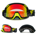 Moto Goggles Black Green Motorcycle Motocross ATV Off Road Goggles Eyewear Sports Glasses for Helmet Lens