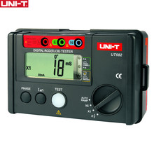 UNI-T UT582 Digital RCD (ELCB) Tester AUTO RAMP Leakage Circuit Breaker Meter with Mis-Operation Buzzer