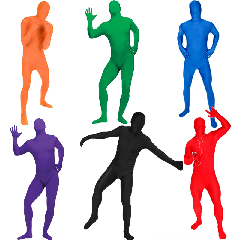 Newest Adult Invisibility Costume Suits Blow Up Blue Green Red Purple Color Full Body Halloween Party Cosplay Costume