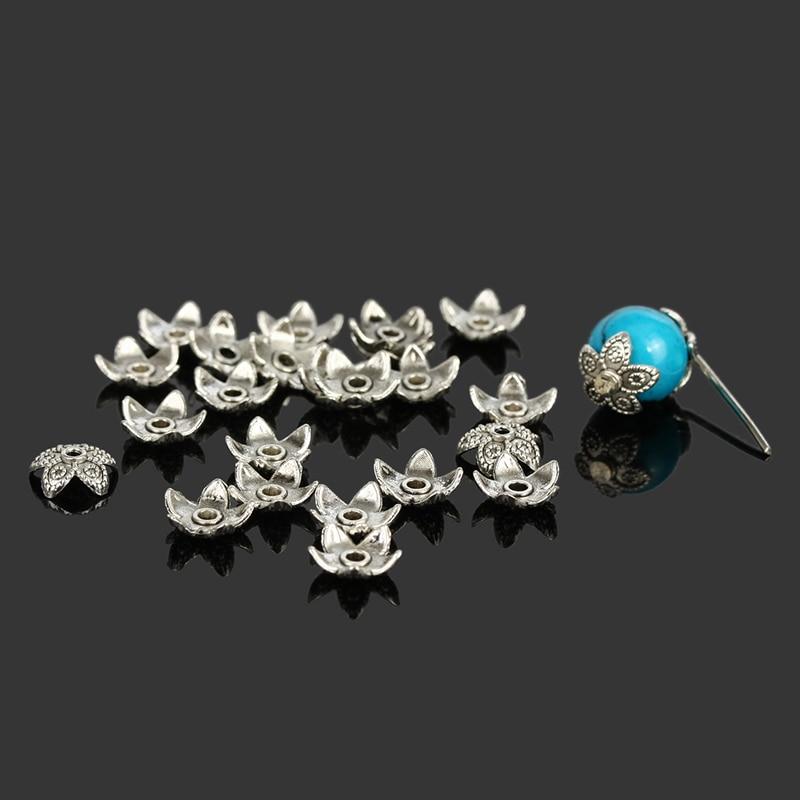 100Pcs Plaqué Argent Tchèque Cristal Spacer Washer Perles Charm Findings 8 mm