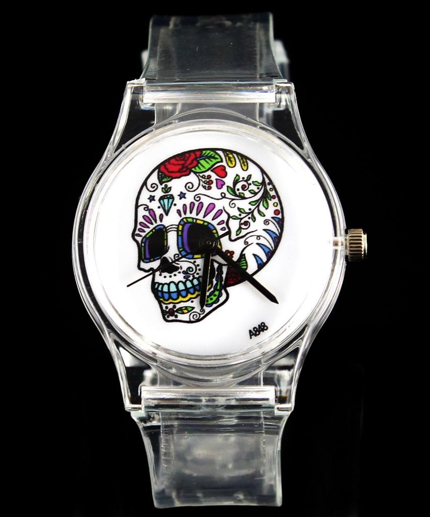 Rose bloem schedel hart kwaad duivel skeleton quartz horloge mode - Dameshorloges - Foto 3