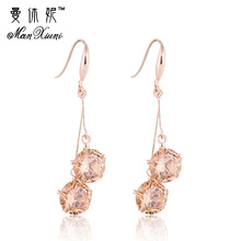 Jiayiqi(Jiayiqi) Agate Tassel exaggeration earrings ladies temperament long Short section of high-quality jewelry oorbellen