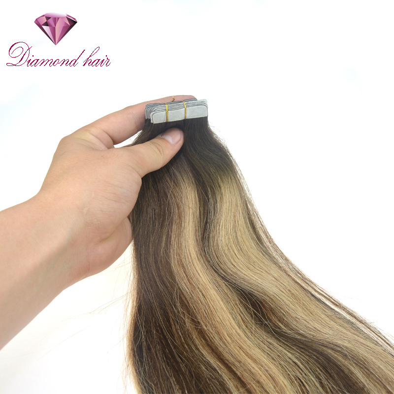 Diamond Quality Unprocessed Virgin 100 Tape In Human Hair Extension