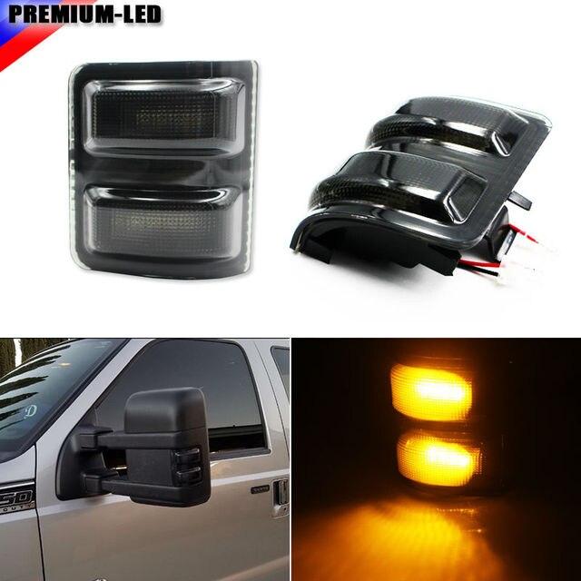 2) Gerookte Lens LED Zijspiegel Marker Verlichting Set Voor 2008 ...