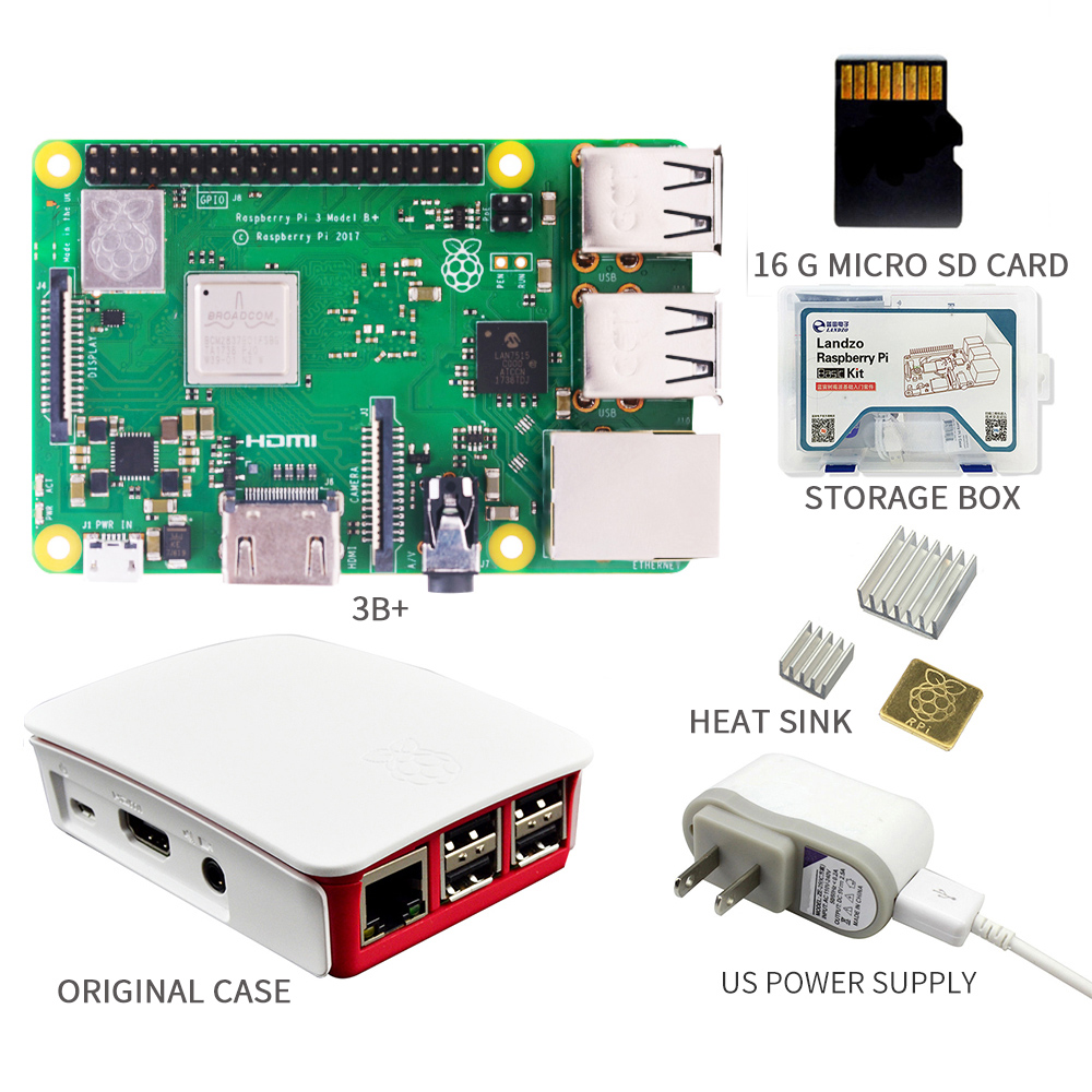 Image 4 - Original 2018 New Raspberry Pi 3 Model B+plus Board 1GB LPDDR2 BCM2837B0 Quad Core Ras PI3 B,PI 3B with WiFi&Bluetooth-in Demo Board from Computer & Office