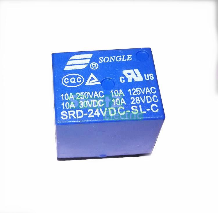 10 шт. мини-модуль SRD-24VDC-SL-C DC24V SPDT 5 Шпильки ...