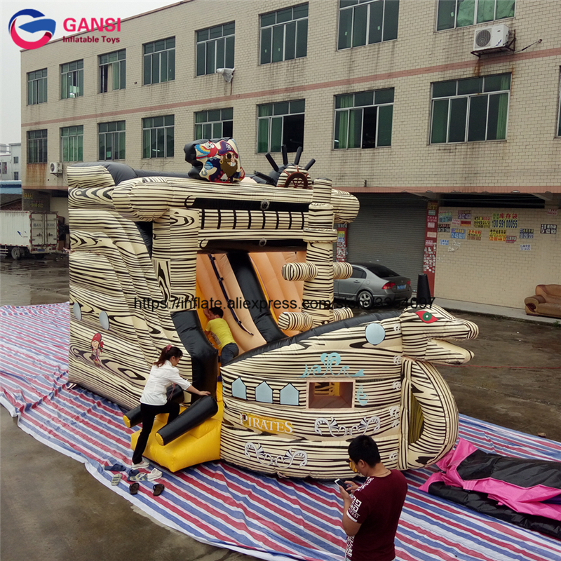 Free air blower inflatable jumping castle for kids boat design cute air bouncer castle cheap price inflatable bounce castle free shipping castle jumping mini jumping castle