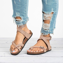 Plus Size Summer Women Flip Flops Flat Round Toe Casual Rome Style Female Beach Gladiator Shoes