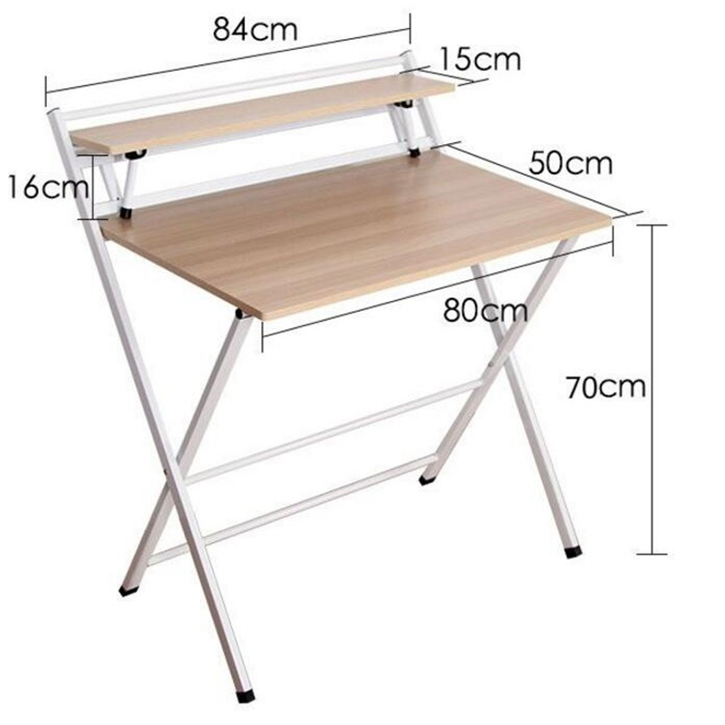 hh# installation folding table household type comter notebook simple desk Free SHIPPING free installation simple folding desk modern portable dinner table 60 40cm