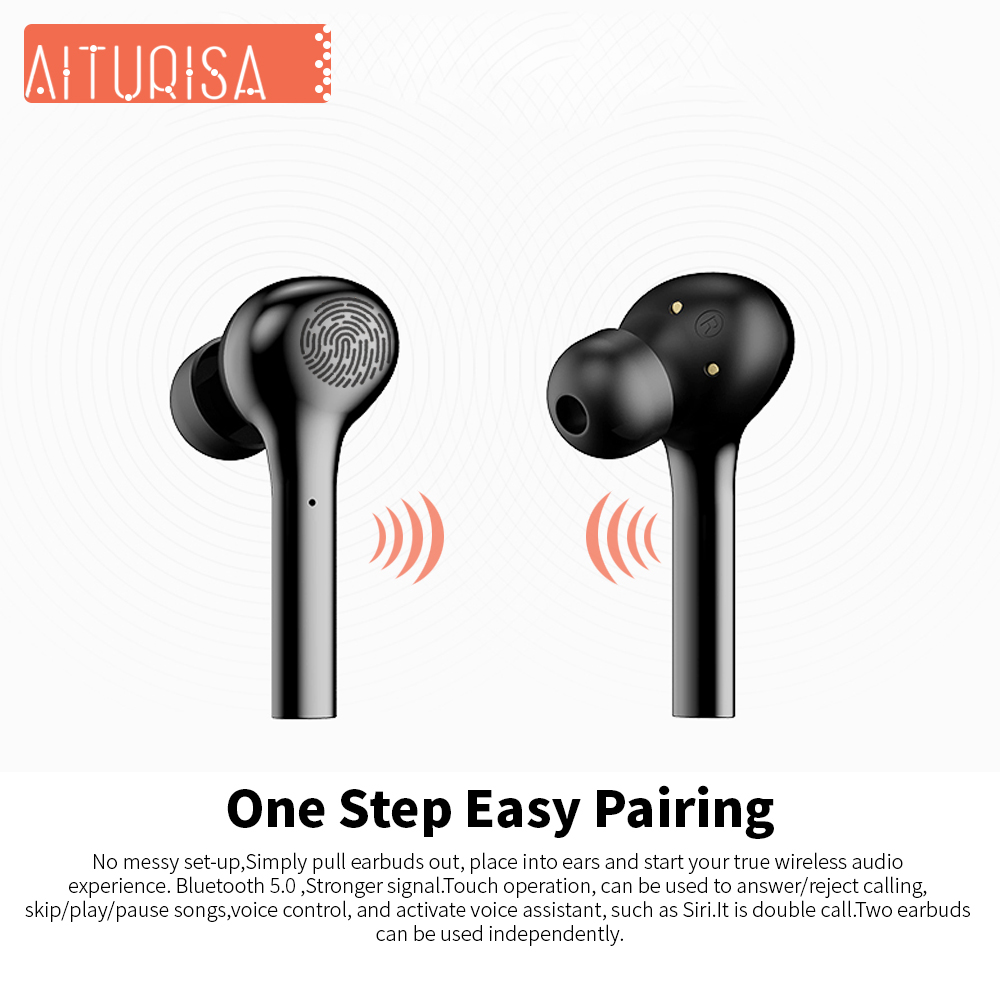 Image 4 - Bluetooth 5.0 Headphones 3D Deep Bass Wireless Earphone HIFI Earpiece Built in Mic With Portable Charging Box For all Smartphone-in Bluetooth Earphones & Headphones from Consumer Electronics