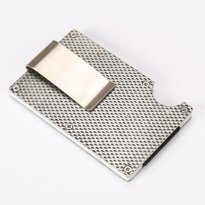 2018 RFID Men Women Minimalist Metal Wallets Slim Mini Business Card ...