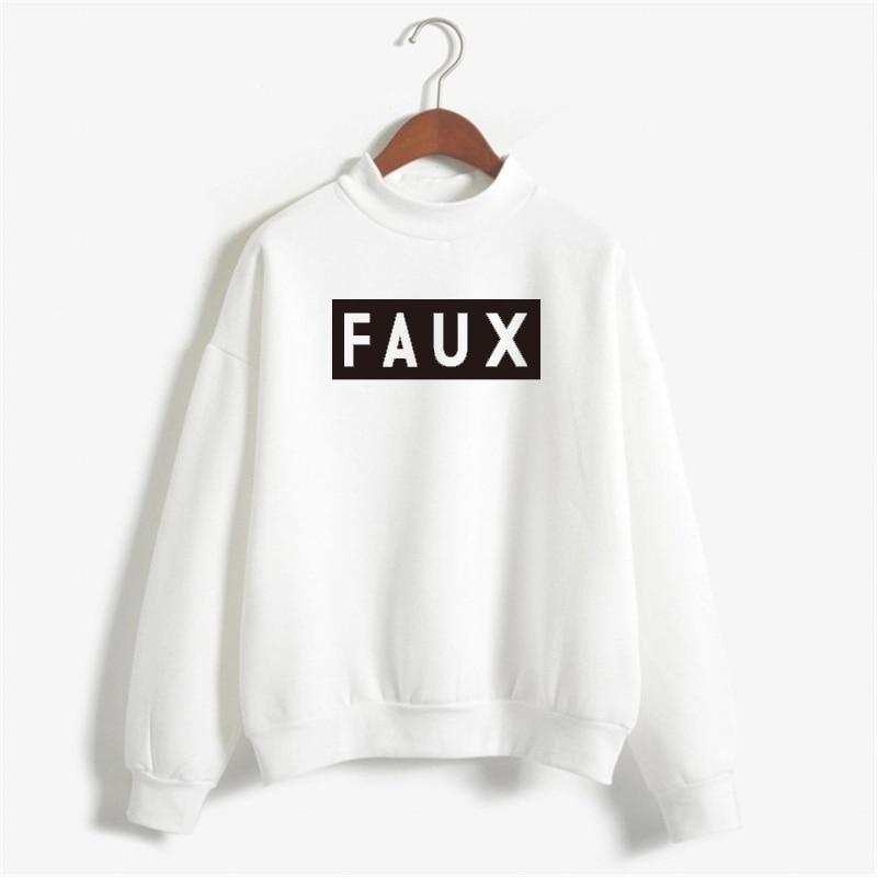 FAUX Sweatshirts Women Print Hoody Fleece Cotton Letter Pullover Hoodies Women Sweatshirt Casual Long Sleeve NSW-10588