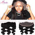 8A Raw Virgin Brazilian Lace Frontal closure Bleach Knot Frontal cheap Body Wave Full Lace ear to ear closure 13 x4 Free Ship