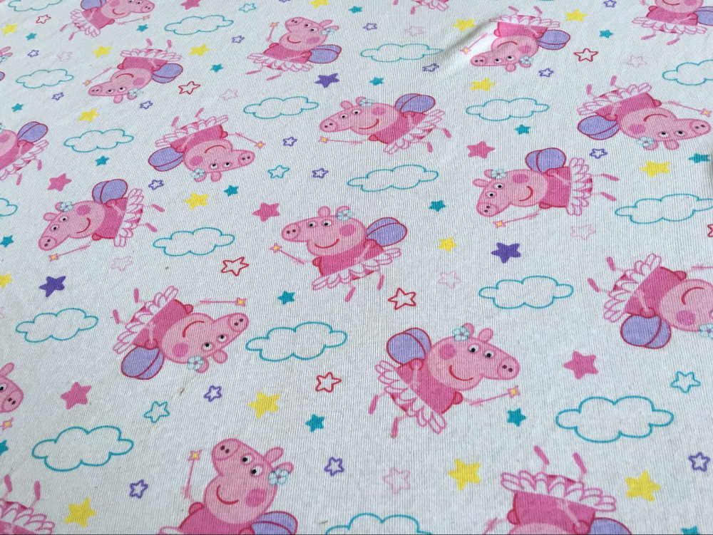 100 * 160cm Pig Princess Knitted Cotton Fabric For Sewing Diy Patchwork Father-Son Clothes, Children's Clothing