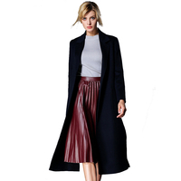 2019 осенние шерстяные пальто женские длинные двухсторонние кашемировые пальто женские костюмы Воротник корейские Зимние Модные раздельные