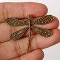 Venda de moda 36*45mm 2 pçs/lote Encantos de Liga de Zinco de Bronze Antigo Chapeado Encantos da Libélula Pingentes Resultados Da Jóia do Metal Fit DIY