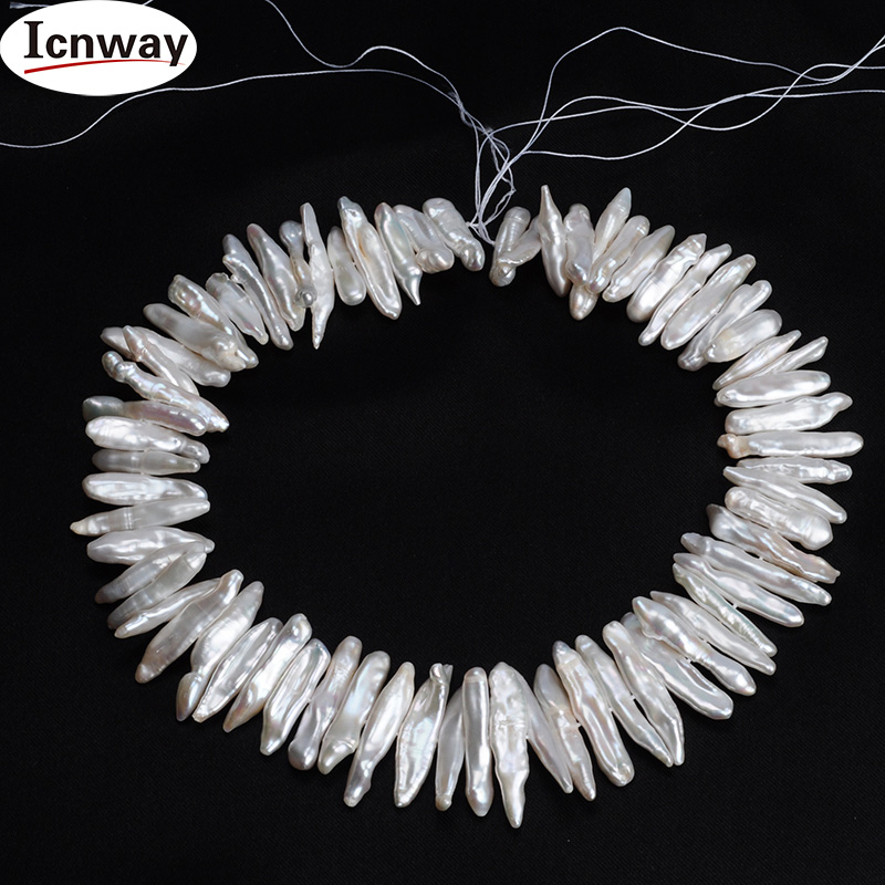 Натуральный белый реборн АА keshi biwa жемчуг 20 мм для изготовления ювелирных изделий 15 дюймов ожерелье браслет серьги Бесплатная доставка Опто...