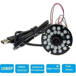 1080p Full HD CMOS OV2710 usb ir модуль камеры с ИК-подсветкой и панелью ночного видения мини веб-камера для Android, Linux, Windows