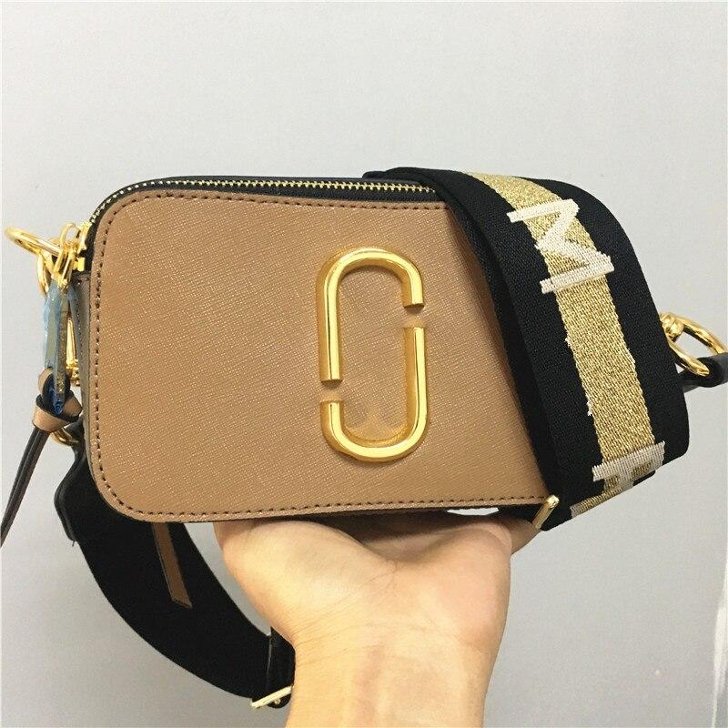 2019 nouveau sacoche d'appareil photo large bandoulière couleur mélangée petit carré sac sac à main de dames en cuir à double glissière petit sac d'épaule