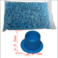 small size blue lnk TATTOO INK CUPS Caps 1000 pcs Pigment Supplies Plastic Self-standing Ink Cups free shipping