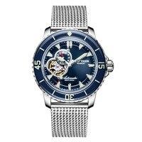Reef Tiger RGA3039 мужские 200 м водонепроницаемые с супер светящимся циферблатом автоматические механические наручные часы сталь