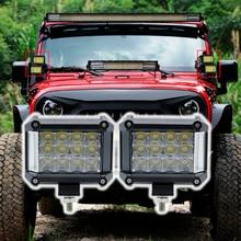 Новый 4 дюймов 57 Вт светодио дный светодиодные фары offсветодио дный road светодиодный бар свет грузовики Лодка ATV 4×4 4WD 12 В в В 24 Наводнение дальнего света фар