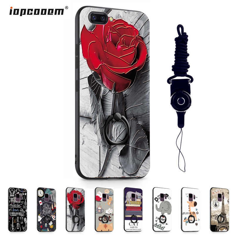 "OPPO A5 Case 6.2"" Luxury 3D Painted Painting TPU edge + PC Back Cover for OPPO A3S phone cases OPPO Realme C1 funda coque"
