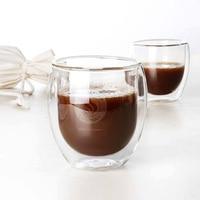 400ml Handmade Coffee Cup Double Wall Glass Tea Cup Heat Resistant Coffee Glass