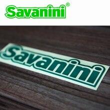 Pegatinas de diseño de coches, accesorios impermeables con lOGO de Savanini, 1 Uds.