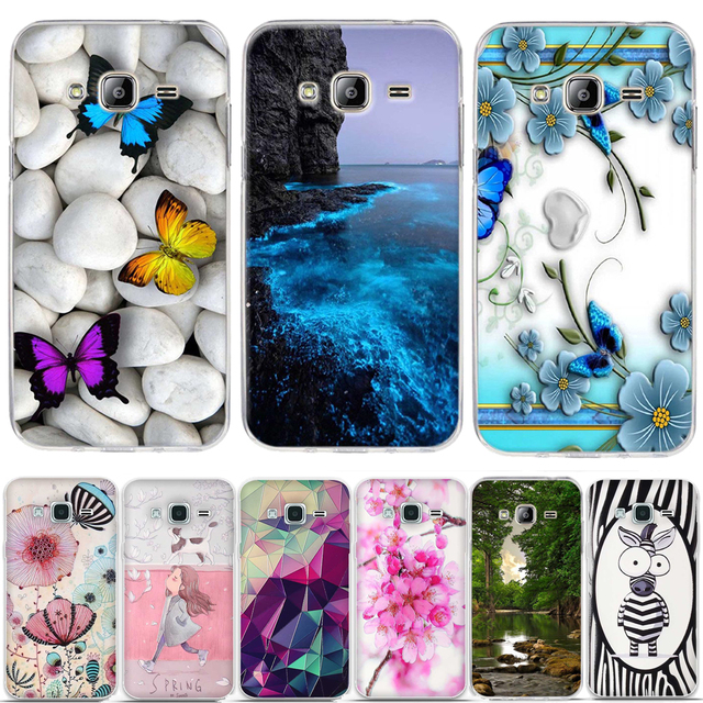 Cover For Samsung J3 2016 Case Pattern Silicon Case for Samsung Galaxy J3 2016 Case 3D Relief Soft TPU Cover For Samsung J3 2015