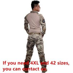 Image 5 - BDU taktyczny kamuflażowy mundur wojskowy ubrania garnitur mężczyźni usa odzież wojskowa Airsoft wojskowa koszula bojowa + spodnie Cargo ochraniacze na kolana