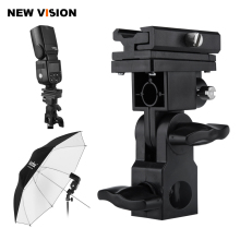 B Type Flash Hot Shoe Adapter Trigger Umbrella Holder Swivel Light Stand Bracket