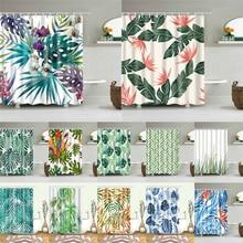 Африканские листья принты для ванной занавески для душа водонепроницаемый экран для ванной украшения дома полиэстер Ткань моющийся занавес