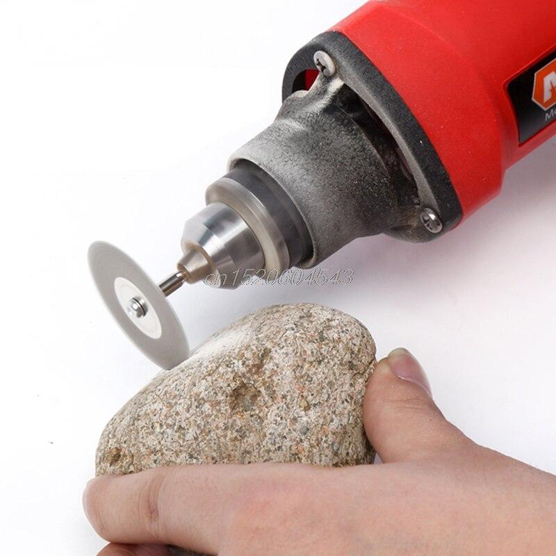 5Pcs 22mm Emery Diamond Cutting blades Drill Bit+1 Mandrel