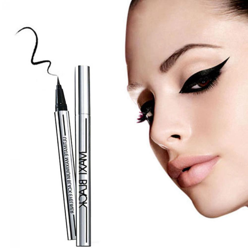 1 PCS Hot Ultimate Black Liquid Eyeliner Long-lasting Waterproof Eye Liner Pencil Pen Nice Makeup Cosmetic Tools image