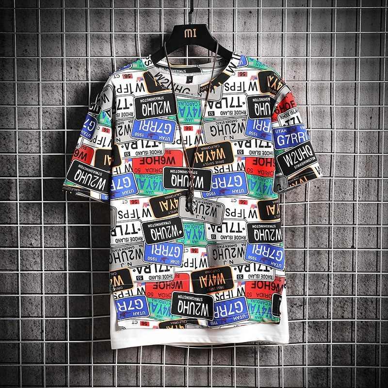 Doodle Stampato freddo lettle stampa T shirt mens divertente della novità tshirt Mens Casual manica corta streetwear di alta qualità