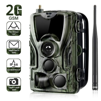 2G MMS SMS  SMTP Trail Wildlife Camera 20MP 1080P Night Vision Cellular Mobile Hunting Cameras HC801M Wireless Photo Trap 1