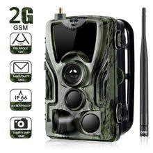 2g mms sms smtp trail wildlife camera 20mp 1080p câmera de visão noturna celular câmeras caça móvel hc801m sem fio foto armadilha